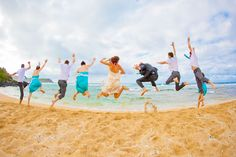Jumping for Joy | Kauai Hawaii Wedding | Clane Gessel Photography | #wedding #photography #beachwedding