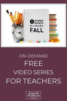 Angela Watson's 7 part video series shares practical time-saving strategies and simple mindset shifts. Complete the series in just under an hour. Includes printable resources. #CultofPedagogyPin