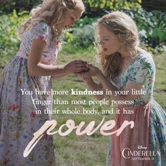Spread one million words of kindness with CInderella Cinderella Quotes, Cinderella Movie, Cinderella Disney, Disney Live, Disney Magic, Disney Princesses, Hayley Atwell Cinderella, Cinderella Live Action, Citations Disney