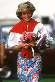 June 30, 1985: Princess Diana at a polo match at Cirencester Polo Club, Gloucestershire.