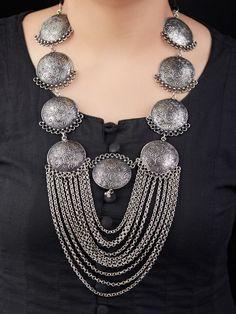 All Fashion Jewelry - Fashion Jewelry - Jewelry Antique Jewellery Designs, Fancy Jewellery, Funky Jewelry, Metal Jewelry, Boho Jewelry, Jewelry Art, Antique Jewelry, Silver Jewelry, Jewelry Design