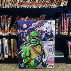For Sale Dm me before you miss out on this Rare 1 of 1 original Canvases from POSHLAWD HQ  . . #ninjaturtles #tmnt #conceptart #graphicnovel #artforlife #comiccon #cosplay #nerdist #comicnerd #twitch #patreon #twitchstreamer #collector