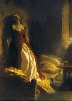 "russian-painting: ""Konstantin Dmitrievich Flavitsky - Princess Tarakanova, Oil on canvas, 245 x 187 cm. The State Tretyakov Gallery, Moscow, Russia. Russian Painting, Russian Art, Art And Illustration, Illustrations, Princess Illustration, Classic Paintings, Beautiful Paintings, Arte Peculiar, Renaissance Kunst"