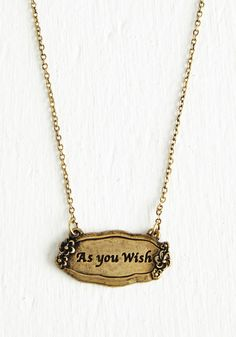 Wish Upon a Charm Necklace - Gold, Solid, Casual, Sayings, Exclusives, Boho