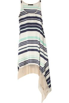 Elizabeth and James  Adrienne striped silk dress  £260