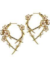Shaun Leane - 'Cherry Blossom' hoop earrings