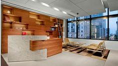 Commercial Casework architectural millwork firm reception area.