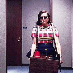 MAD MEN (AMC) ~ Season 7, Episode 12: Lost Horizon. Elisabeth Moss as Peggy Olson. [GIF]