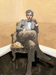 Michael Carson, Cornered, oil on board, 40 x 30 More male art at www.theartofman.net and www.VitruvianLens.com