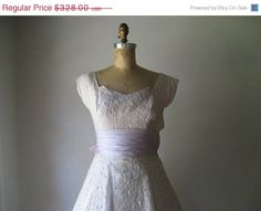 HOLIDAY SALE vintage 1950s dress / white nylon by SHESABETTIE