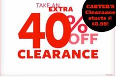 Carter's: EXTRA 40% off Clearance SAT & SUN! – Mama Bees Freebies