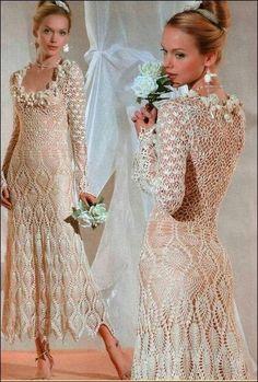 Crochet+y+dos+agujas:+Un+vestido+de+ensueño