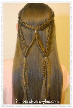 Angel Wings Fishtail Braid Tie Back Frisur # long fishtail Braids Box Braids Hairstyles, Unique Braided Hairstyles, Try On Hairstyles, Beautiful Hairstyles, Braided Ponytail, Fishtail Braids, Braids Cornrows, Locks, Half French Braids