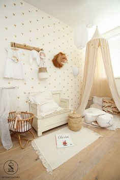 sevencouches test: d Baby Bedroom, Nursery Room, Girls Bedroom, Nursery Decor, Room Decor, Deco Kids, Boy Baby Shower Themes, Kids Room Design, Big Girl Rooms