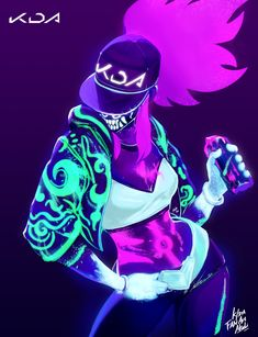 K/DA Akali by Suda. Yue HD Wallpaper Background Fan Art Artwork League of Legends lol Epic Art, Akali Lol, Character Design, Character Art, Legend, Legend Drawing, Kawaii Anime, Champions League Of Legends, League Of Legends Characters