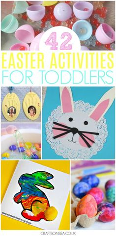 Need some Easter activities for toddlers? We've got all the inspiration you need with everything from Easter sensory bins to super cute keepsakes kids can make. Paper plate crafts, egg decorating ideas, rabbits, chicks and sheep - everything you need in one place! #easter #eastercrafts #toddler #preschool #kidsactivities