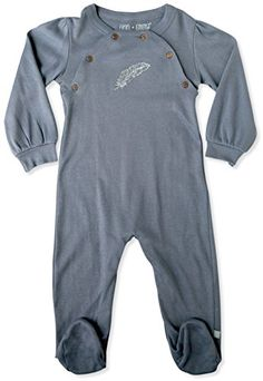 Finn  Emma  Footie  Baby Girl  Flintstone Blue  100 Organic Cotton  36m ** To view further for this item, visit the image link.