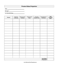 A printable form on which to record daily sales in a retail store ...