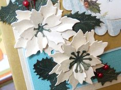 tattered lace christmas florals - Recherche Google