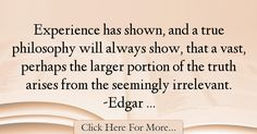 Edgar Allan Poe Quotes About Experience - 17414