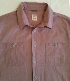 MENS MOSSIMO SUPPLY CO SHORT SLEEVE SHIRT PURPLE SIZE L #MOSSIMOSUPPLYCo #ButtonFront