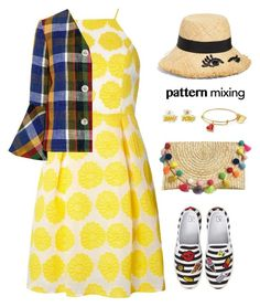 """""""Pattern Mixing"""" by musicfriend1 ❤ liked on Polyvore featuring BP., Dorothy Perkins, Carven and Kate Spade"""