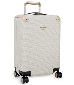 From MICHAEL Michael Kors&& this luggage features& signature small pvc&& polyester&& cotton&& polyurethane zip back zip pockets&& 2 front zip pocketsApprox& w x 20 h x d inches; Designer Travel Bags, Designer Luggage, Luxury Luggage, Luxury Bags, Travel Luggage, Cute Luggage, Luggage Sets, Michael Kors Luggage, Michael Kors Bag