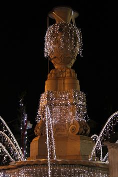 Christmas : Fountain in Besançon, France.