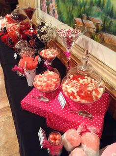 Mickey & Minnie Mouse candy table we made for a party