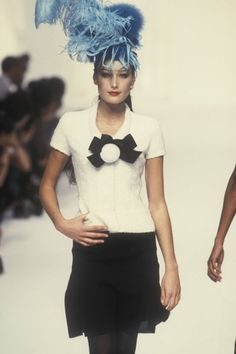 Carla Bruni @ Chanel, Autumn-Winter 1994, Couture
