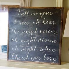 ONE of our new CHRISTmas signs:)  see our ETSY shop  https://www.etsy.com/shop/TheHouseofBelonging?ref=si_shop