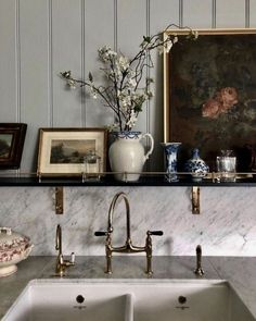 (18) Tumblr French Country Kitchens, French Country House, Country Bathrooms, French Bistro Kitchen, French Kitchen Decor, Scandinavian Kitchen, French Farmhouse, Vintage Farmhouse, Home Interior