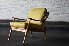 Graceful Danish Modern Lounge Chair-- Peter Hvidt & Orla Mølgaard-Nielsen (France & Sons, Denmark 1950's) by Kinzco, via Flickr