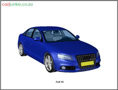 CAD Format: AutoCAD 2013 Block Type: 3D Mesh Units: mm Autocad, 3d Mesh, Cad Blocks, 3d Models, Audi A4, The Unit, Type, Vehicles, Car