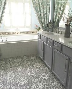 80 makeover how to paint your ugly concrete floors for Can you paint linoleum floors