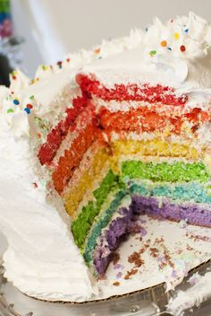 Cake at a Rainbow Party #rainbowparty #cake