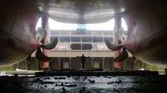 Damen shiprepair #Brest échouage en forme de radoub