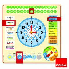Goula 51310 - Orologio Calendario Italiano: Amazon.it: Giochi e giocattoli