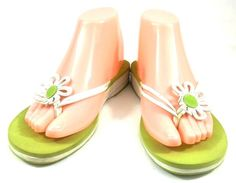 Keds Flip Flops Sandals Multi-Color Leather Slip On Thongs Shoes Womens Size 9 M #Keds #FlipFlops #Casual