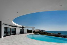 Surprising architecture by coastal residence.