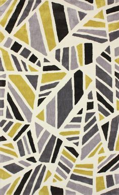 Rugs USA Radiante BC43 Chartreuse Rug, 100% Polyester, Hand Tufted, Contemporary, modern, home decor, home design, DIY, yellow, grey.