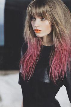 abbeyleekershaw - dip dye pink hair | I love this so much!!!!