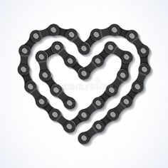 Illustration about Bicycle chain heart illustration . Illustration of strength, machine, sign - 31341000 Bicycle Crafts, Bike Craft, Bicycle Art, Metal Welding, Welding Art, Velo Biking, Bicycle Tattoo, Heart Illustration, Bicycle Illustration
