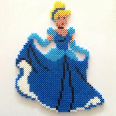 Cinderella hama beads by lafillecynthia