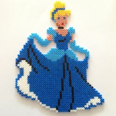 Cinderella hama beads by lafillecynthia
