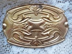 1 Vintage 80mm Art Nouveau Brass Stamping by StarPower99 on Etsy, $4.20