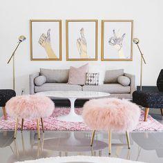"6,452 curtidas, 67 comentários - west elm (@westelm) no Instagram: ""Pretty in Pink!  Hop on over to blog.westelm.com to explore this blush-toned Palm Springs home and…"""