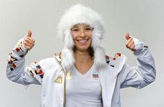 Theis year s Czech Olympics outfit / Snowboardistka Šárka Pančochová si 28. ledna v Praze vyzvedla olympijskou kolekci oblečení pro zimní hry v Soči.