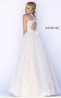 Beads Sherri Hill 32218 Ivory Ballgown Prom Dress
