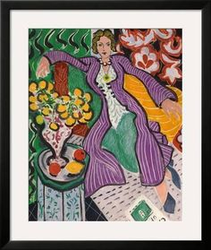 Framed Giclee Print: Woman in a Purple Coat, 1937 by Henri Matisse : 32x27in